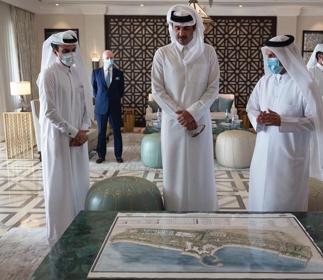 HH The Amir Makes Inspection Visit to Salwa Beach Resort
