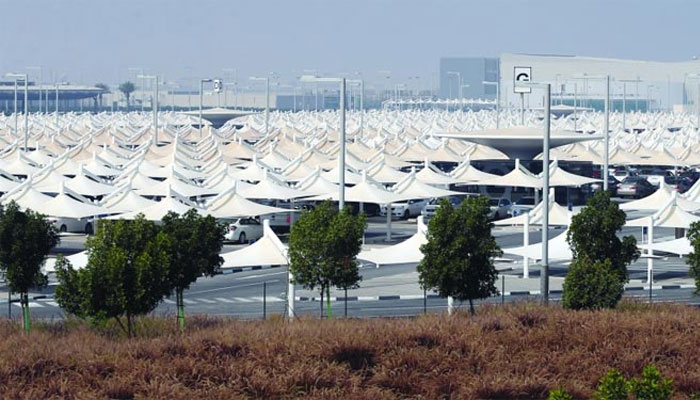 A photo of the parking facility at Hamad International Airport