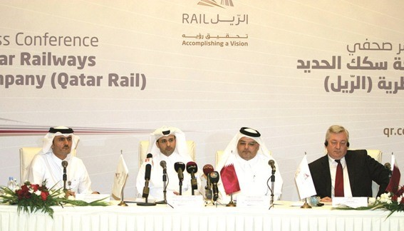 A photo from the Qatar Rail press conference